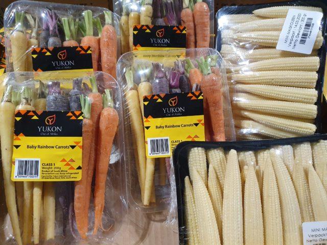 Mini Karotten bunt und Mini Mais